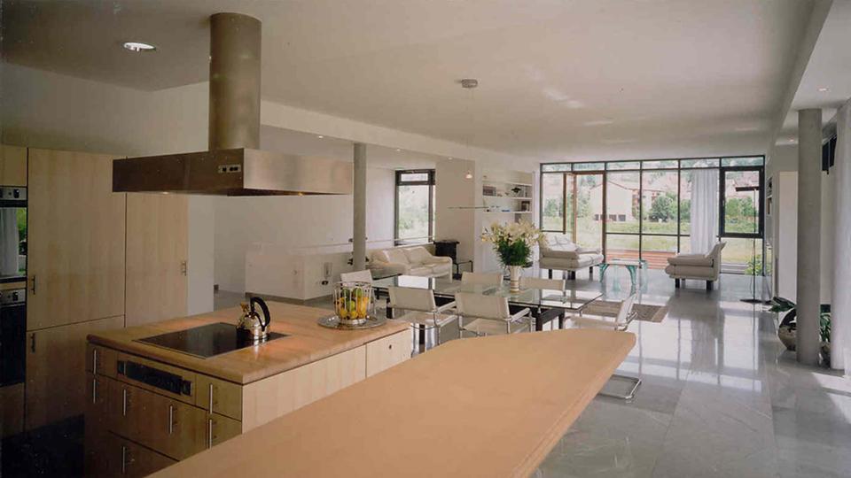 doppelhaush lfte gerlingen klumpp klumpp architekten. Black Bedroom Furniture Sets. Home Design Ideas